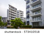 apartment buildings at rhodes... | Shutterstock . vector #573410518