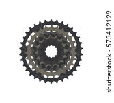 Bicycle Sprocket On The White...