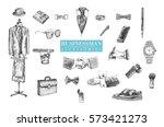 businessman stuff and... | Shutterstock .eps vector #573421273