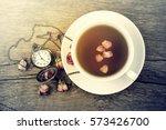 traditional english 5 o'clock... | Shutterstock . vector #573426700