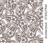 oriental seamless paisley...   Shutterstock .eps vector #573427960