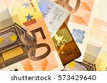 Euro Banknotes And Credit Cards