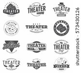 theatre badges and emblems in... | Shutterstock .eps vector #573430126