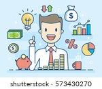 investor. smart investment.... | Shutterstock .eps vector #573430270