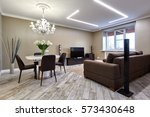 living room with a beautiful... | Shutterstock . vector #573430648