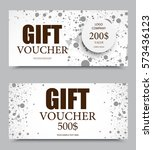 gift voucher template on two... | Shutterstock .eps vector #573436123