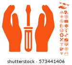 tuning screwdriver care hands... | Shutterstock .eps vector #573441406
