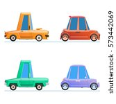 vector set with cartoon cars | Shutterstock .eps vector #573442069