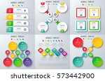 set with infographics. data and ... | Shutterstock .eps vector #573442900