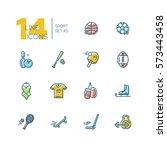 kinds of sport   modern vector...   Shutterstock .eps vector #573443458