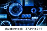 hud interface | Shutterstock . vector #573446344