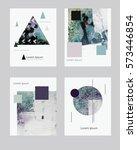 vector contemporary greeting... | Shutterstock .eps vector #573446854