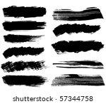set of ink blots.raster   Shutterstock . vector #57344758