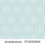abstract geometric graphic seamless blue hexagon pattern background | Shutterstock vector #573453904
