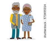 black old couple of retirees....   Shutterstock .eps vector #573455314