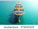 container container ship in... | Shutterstock . vector #573455323