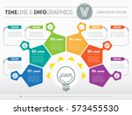 vector infographic of... | Shutterstock .eps vector #573455530