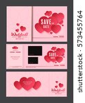 wedding card vector | Shutterstock .eps vector #573455764