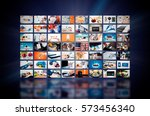 multimedia video wall... | Shutterstock . vector #573456340