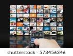 multimedia video wall... | Shutterstock . vector #573456346