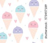 Seamless Ice Cream Pattern...