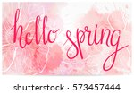 horizontal banner with... | Shutterstock .eps vector #573457444