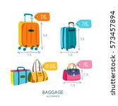 baggage allowance isolated... | Shutterstock .eps vector #573457894