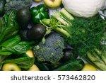 food background of green... | Shutterstock . vector #573462820