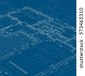 blueprint. vector architectural ... | Shutterstock .eps vector #573465310