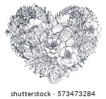Floral Heart. Bouquet...