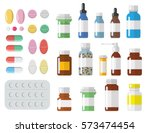 set of different sized medical... | Shutterstock .eps vector #573474454