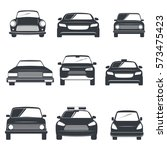 set of different car icons.... | Shutterstock .eps vector #573475423