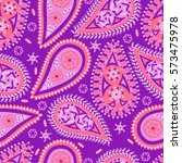 abstract seamless paisley... | Shutterstock .eps vector #573475978
