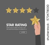 customer review give a five... | Shutterstock .eps vector #573478030