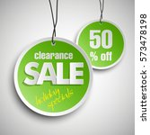 holiday specials clearance sale ... | Shutterstock .eps vector #573478198