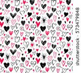 love pattern with hand drawn... | Shutterstock .eps vector #573479848