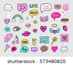 vector hand drawn fashion... | Shutterstock .eps vector #573480820