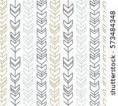 seamless hand drawn geometric... | Shutterstock .eps vector #573484348