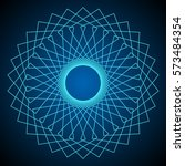 flower of life. sacred geometry.... | Shutterstock .eps vector #573484354