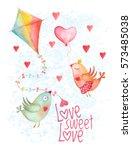 vector valentine day birds...