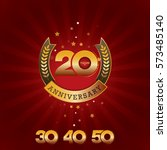 20 years anniversary template...   Shutterstock .eps vector #573485140
