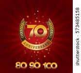 70 years anniversary template...   Shutterstock .eps vector #573485158