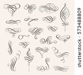 vector set of calligraphic... | Shutterstock .eps vector #573488809
