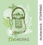 tea time. tea is always good... | Shutterstock .eps vector #573494860