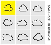 clouds line icons | Shutterstock .eps vector #573494908