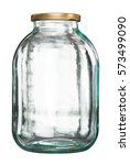 closed empty glass jar with... | Shutterstock . vector #573499090