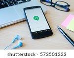 chiangmai  thailand  february 7 ... | Shutterstock . vector #573501223