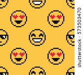 Emoji Cute Seamless Pattern On...