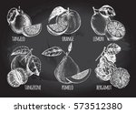 ink hand drawn set of different ... | Shutterstock .eps vector #573512380