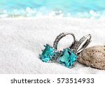 jewelry earrings with...   Shutterstock . vector #573514933